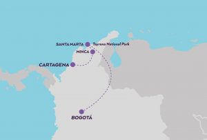 Week in Colombia map